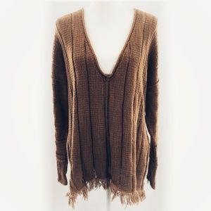 Free People Ocean Drive Halzenut Sweater Size L